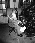 Santa at a compositing machine