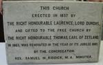 plaque; commemorative