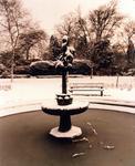 Dollar Park fountain in snow