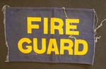 """arm band; """"Fire Guard"""""""