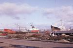 MV BP Springer and another ship, Eastern Channel, Grangemouth Docks
