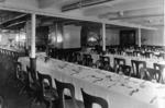 "Third class dining saloon of liner ""Orvieto"""
