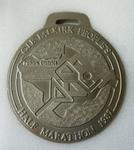 "medallion; commemorative ""People's Half Marathon"""