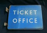 sign; ticket office