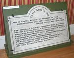 plaque; Second World War memorial
