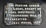 plaque; canal