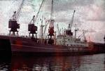 Ship 'Lochwood' at Grangemouth docks