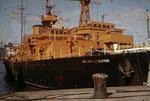 Ship 'Weather Observer' at Grangemouth docks