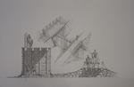 """drawing; """"Westquarter Burn"""""""