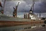 Ship 'Tabaristan' at Grangemouth docks