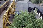 Old footbridge and temporary footbridge, Falkirk High Station