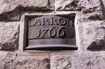 Stone plaque in the wall of Carron Iron Works