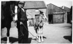 George Roy with horse and foal