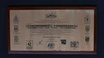 plaque; railway anniversary