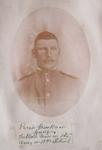 """""""Private Brookman Young.  Tallest man in the army in 1895.  Retired."""""""