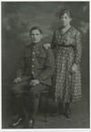 Private John E Connell and his wife
