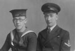 Thomas and Joe Reape in naval uniform