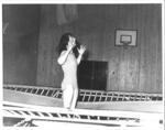 Mhairi McNair on trampoline