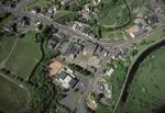 Aerial view of Bonnybridge town centre