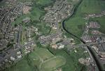 Aerial view of Bonnybridge town centre