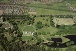 Aerial view of Callendar Park  and House. Falkirk