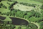 Aerial view of Callendar Park College site, Falkirk.