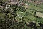 Aerial view of Callendar Park and Callendar House. Falkirk