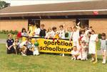 Operation School Break at Hallglen - children with sporting equipment