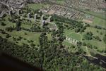 Aerial view of Callendar Park, Falkirk.