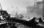 "Propeller tube from cargo ship ""Jamaica Planter"" in Carriden shipbreaking yard"