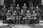 Home Guard outside Grange School