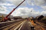 Camelon Railway station & footbridge during construction