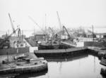 """Dry Dock"".  MV Accum in Grangemouth Docks"