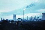 Farm tractor and BP refinery, Grangemouth