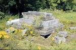 Headstones beside Elphinstone Tower