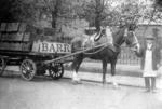 Horse and cart near Falkirk Infirmary
