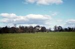 Looking across fields to Airth Castle