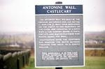 Ancient Monuments Sign at Castlecary Fort