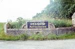 Sign at entrance to Craigend Refractories, Standburn