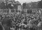 Unveiling ceremony of Falkirk War Memorial, Dollar Park